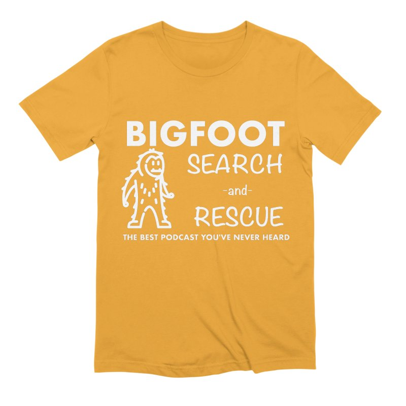 Bigfoot Search & Rescue (White) Men's Extra Soft T-Shirt by The Best Podcast You've Never Heard