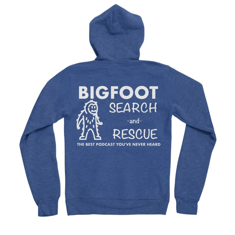 Bigfoot Search & Rescue (White) Women's Sponge Fleece Zip-Up Hoody by The Best Podcast You've Never Heard
