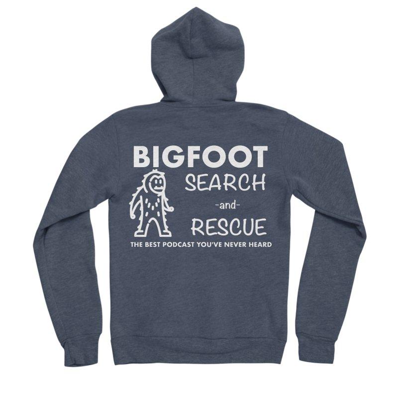 Bigfoot Search & Rescue (White) Women's Sponge Fleece Zip-Up Hoody by The Best Podcast You've Never Heard