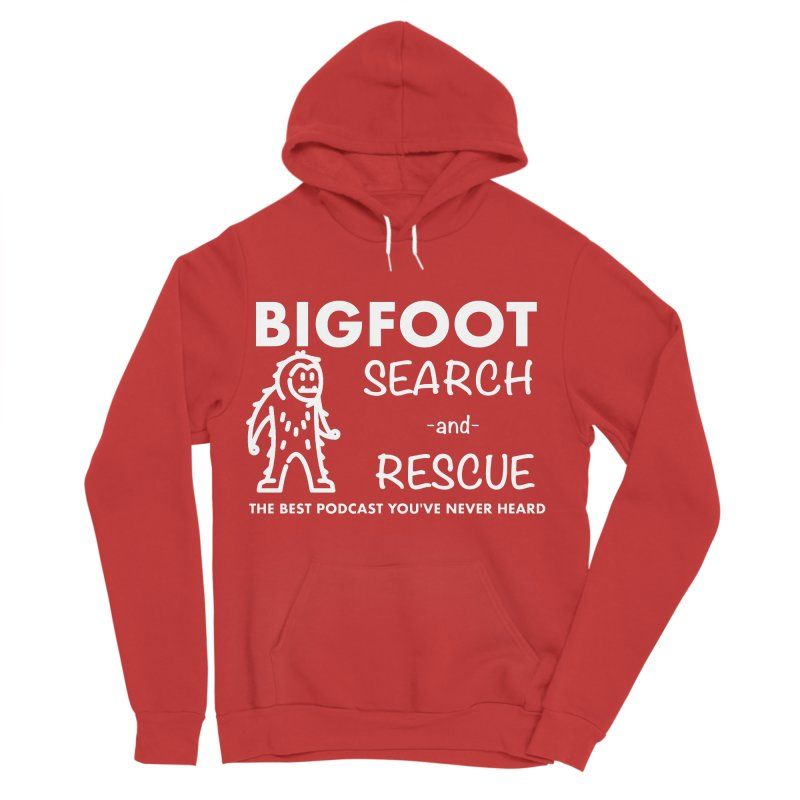 Bigfoot Search & Rescue (White) Men's Sponge Fleece Pullover Hoody by The Best Podcast You've Never Heard