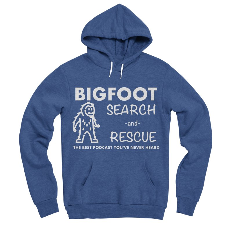 Bigfoot Search & Rescue (White) Women's Sponge Fleece Pullover Hoody by The Best Podcast You've Never Heard