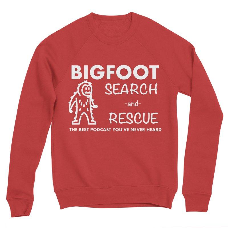 Bigfoot Search & Rescue (White) Women's Sponge Fleece Sweatshirt by The Best Podcast You've Never Heard