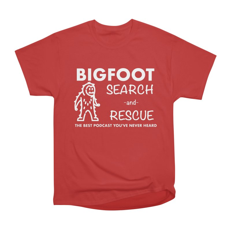 Bigfoot Search & Rescue (White) Men's Heavyweight T-Shirt by The Best Podcast You've Never Heard