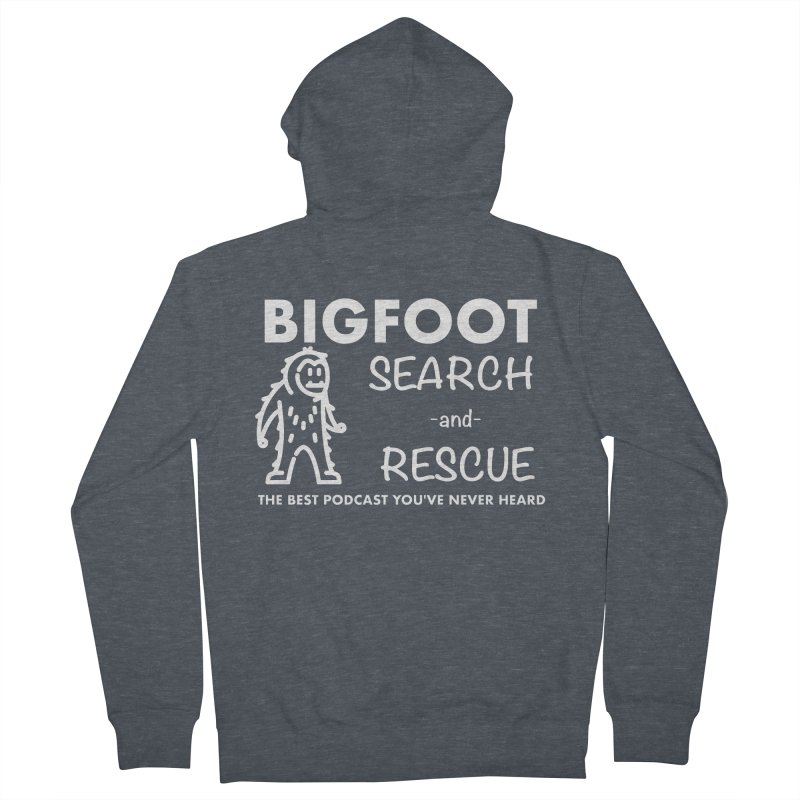 Bigfoot Search & Rescue (White) Women's French Terry Zip-Up Hoody by The Best Podcast You've Never Heard