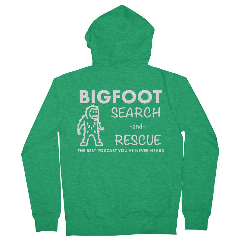 Bigfoot Search & Rescue (White) Men's French Terry Zip-Up Hoody by The Best Podcast You've Never Heard