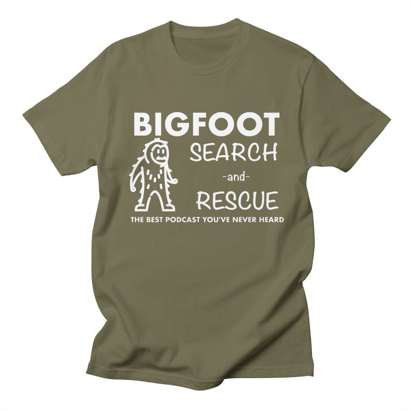 Bigfoot Search & Rescue (White) Men's Regular T-Shirt by The Best Podcast You've Never Heard