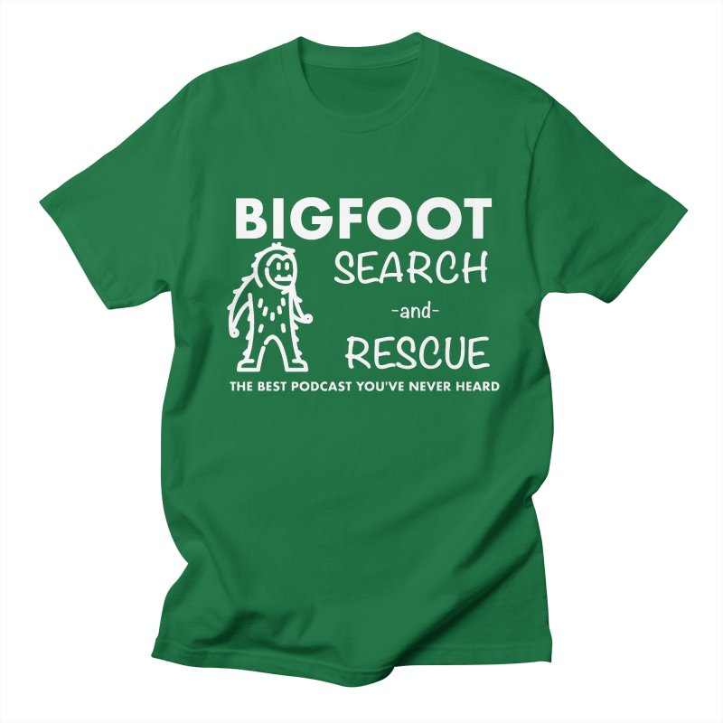 Bigfoot Search & Rescue (White) Women's Regular Unisex T-Shirt by The Best Podcast You've Never Heard