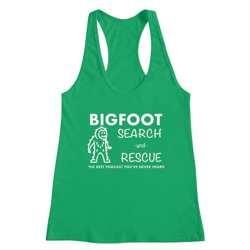 Bigfoot Search & Rescue (White) Women's Tank by The Best Podcast You've Never Heard
