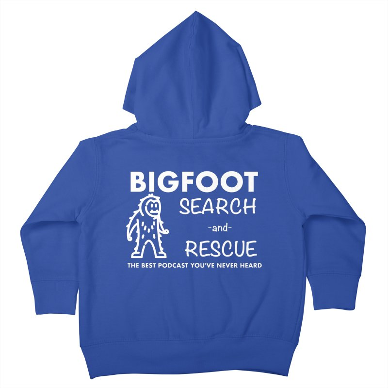 Bigfoot Search & Rescue (White) Kids Toddler Zip-Up Hoody by The Best Podcast You've Never Heard