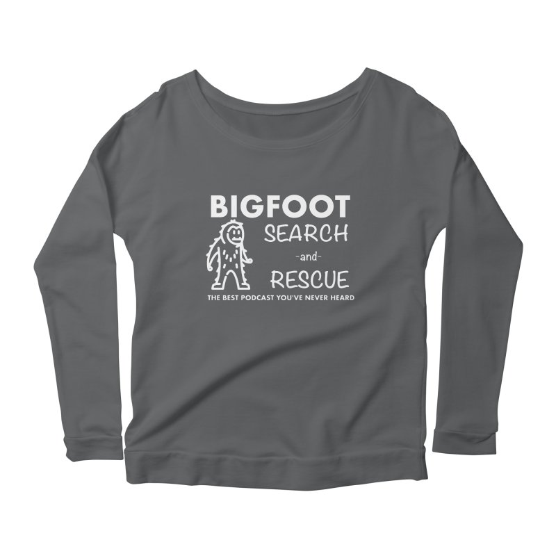 Bigfoot Search & Rescue (White) Women's Scoop Neck Longsleeve T-Shirt by The Best Podcast You've Never Heard