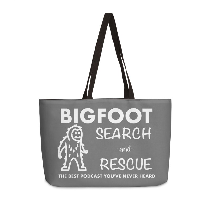 Bigfoot Search & Rescue (White) Accessories Bag by The Best Podcast You've Never Heard