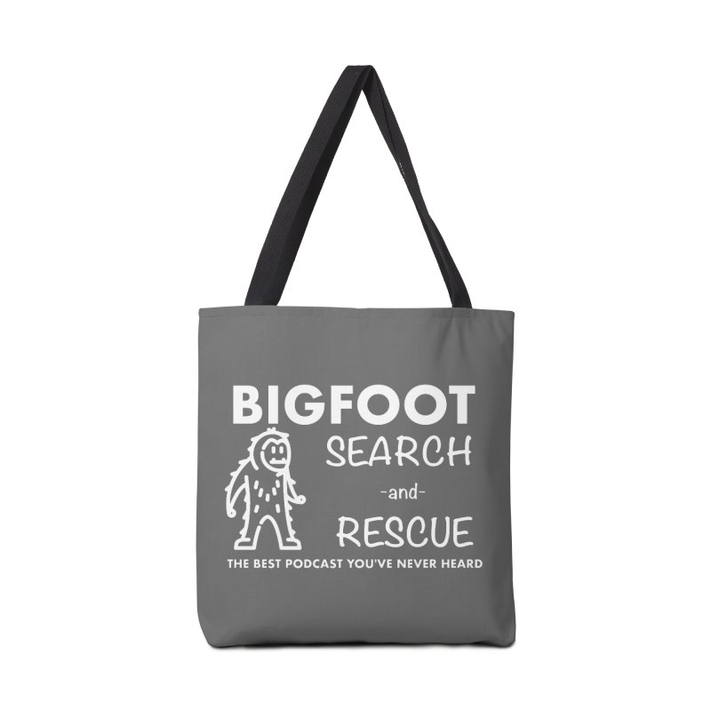 Bigfoot Search & Rescue (White) Accessories Tote Bag Bag by The Best Podcast You've Never Heard