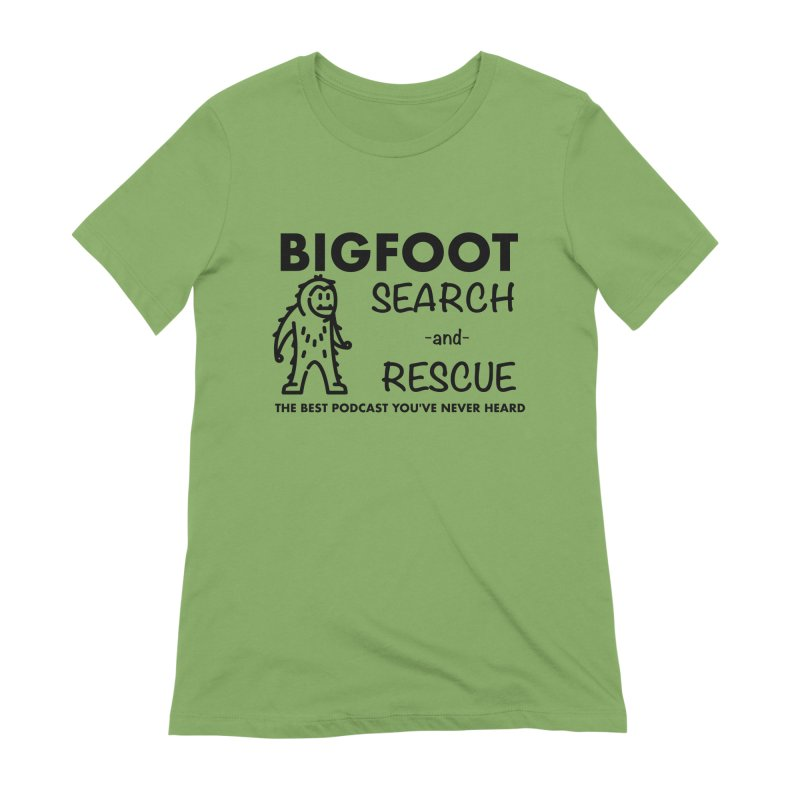 Bigfoot Search & Rescue (Black) Women's Extra Soft T-Shirt by The Best Podcast You've Never Heard