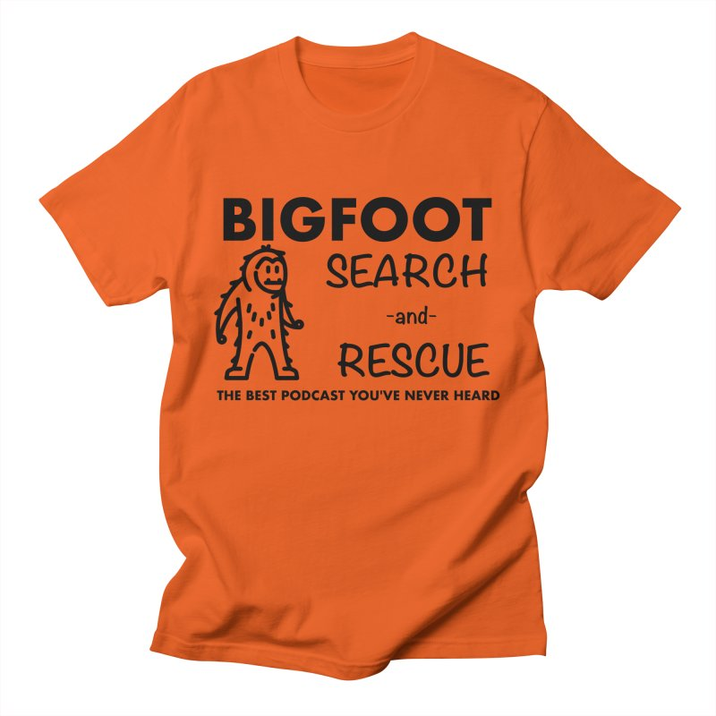 Bigfoot Search & Rescue (Black) Men's T-Shirt by The Best Podcast You've Never Heard