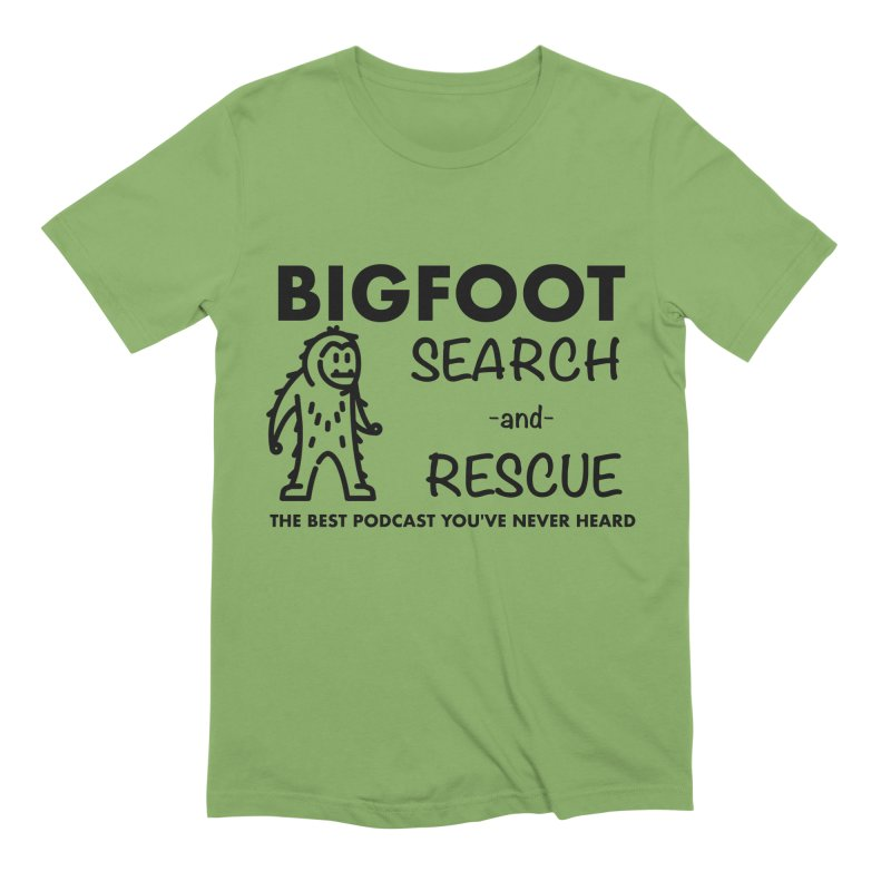 Bigfoot Search & Rescue (Black) Men's Extra Soft T-Shirt by The Best Podcast You've Never Heard