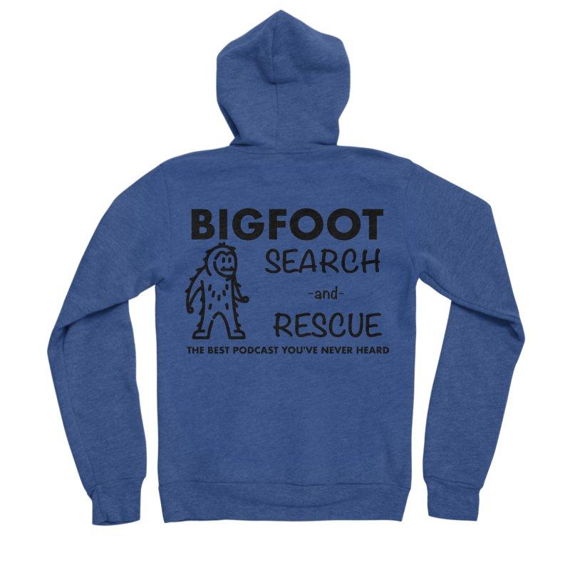 Bigfoot Search & Rescue (Black) Men's Sponge Fleece Zip-Up Hoody by The Best Podcast You've Never Heard