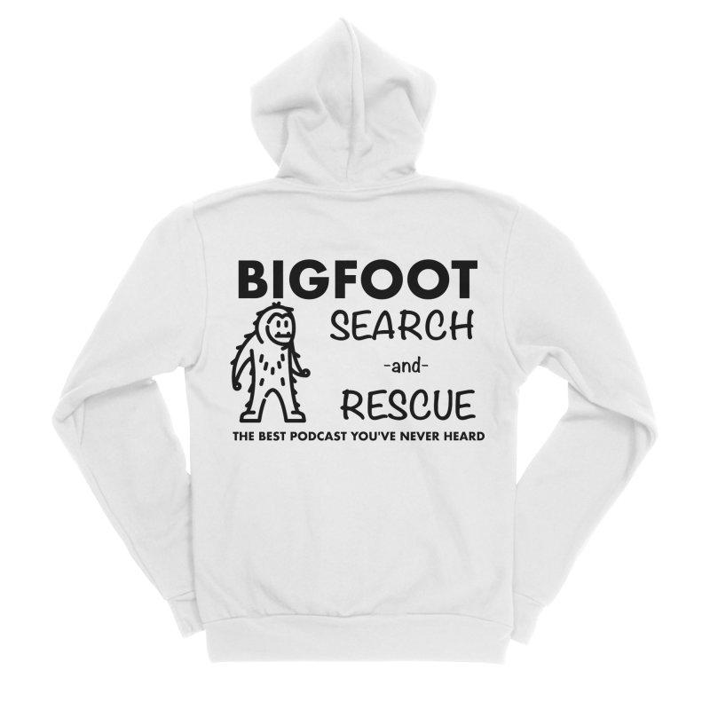 Bigfoot Search & Rescue (Black) Women's Sponge Fleece Zip-Up Hoody by The Best Podcast You've Never Heard