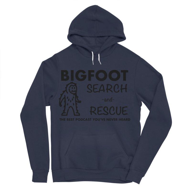 Bigfoot Search & Rescue (Black) Men's Sponge Fleece Pullover Hoody by The Best Podcast You've Never Heard
