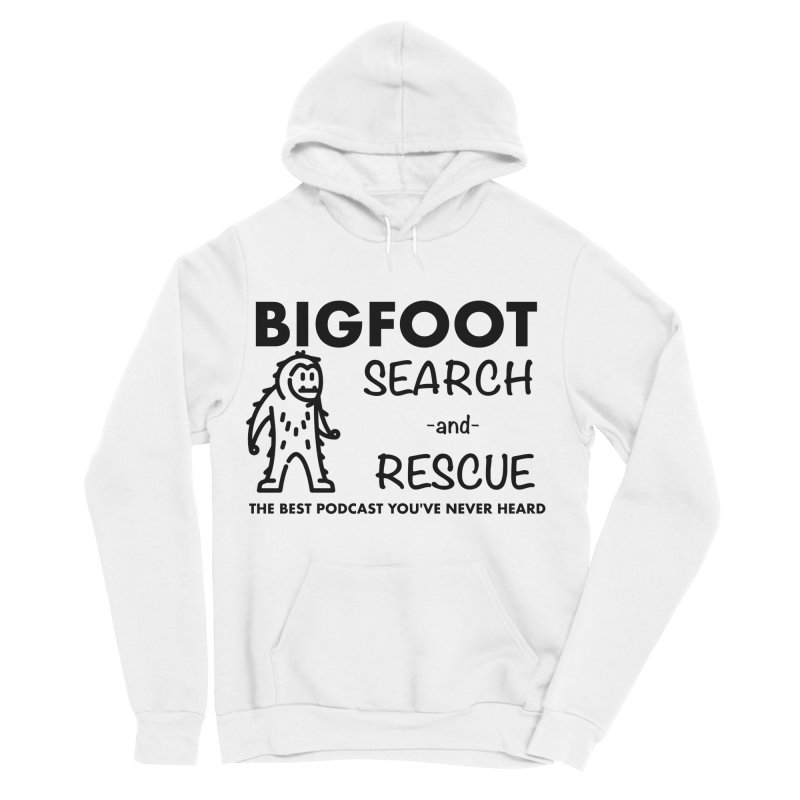 Bigfoot Search & Rescue (Black) Men's Sponge Fleece Pullover Hoody by The Best Podcast You've Never Heard