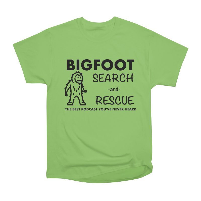 Bigfoot Search & Rescue (Black) Men's Heavyweight T-Shirt by The Best Podcast You've Never Heard
