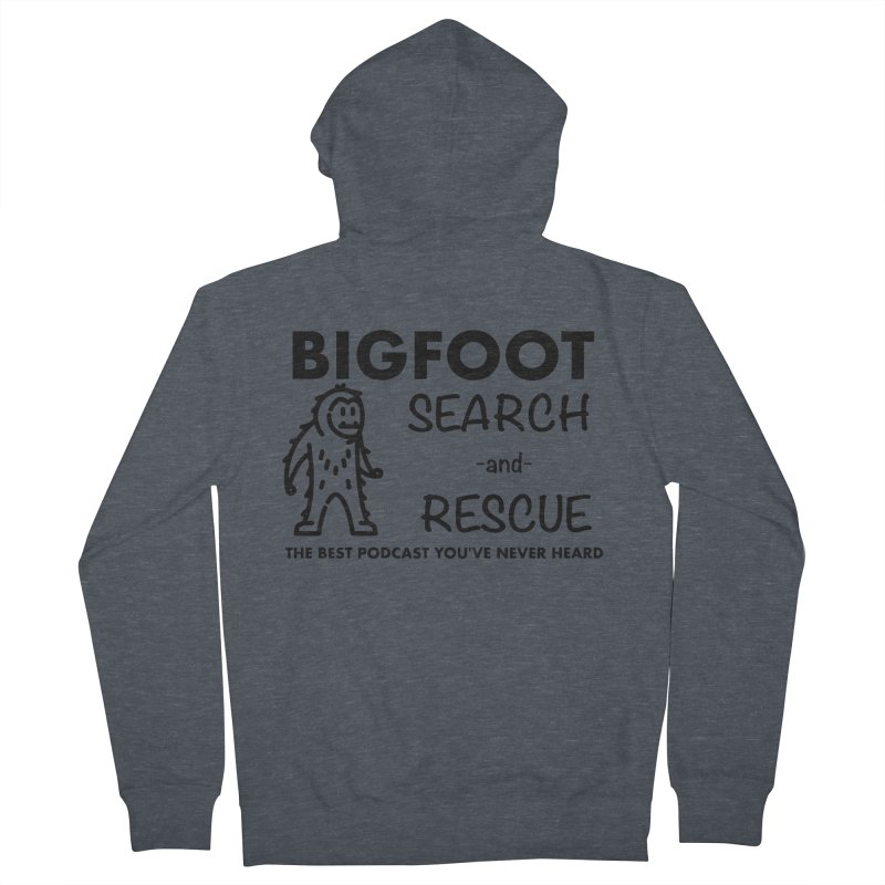 Bigfoot Search & Rescue (Black) Women's French Terry Zip-Up Hoody by The Best Podcast You've Never Heard