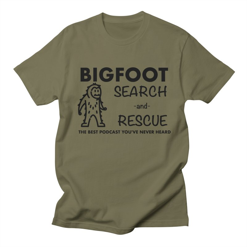 Bigfoot Search & Rescue (Black) Women's Regular Unisex T-Shirt by The Best Podcast You've Never Heard