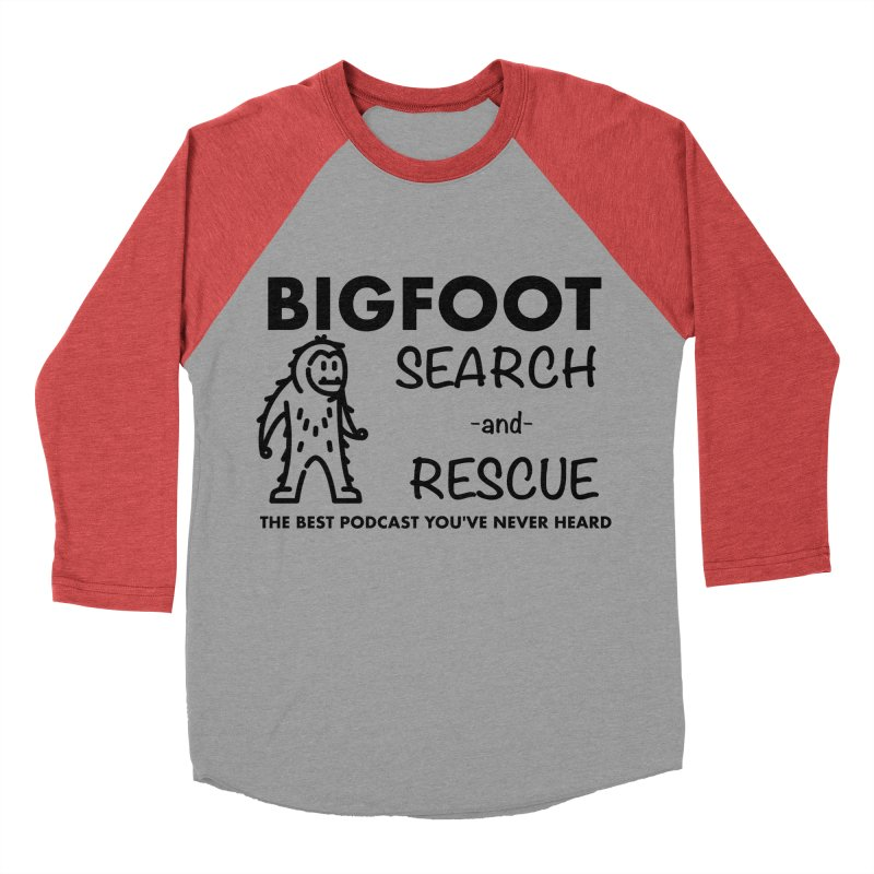 Bigfoot Search & Rescue (Black) Women's Baseball Triblend Longsleeve T-Shirt by The Best Podcast You've Never Heard