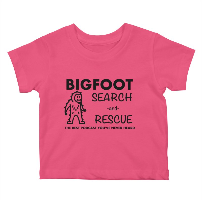 Bigfoot Search & Rescue (Black) Kids Baby T-Shirt by The Best Podcast You've Never Heard