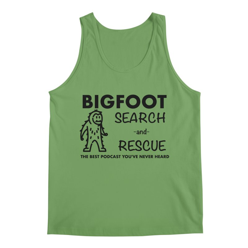 Bigfoot Search & Rescue (Black) Men's Tank by The Best Podcast You've Never Heard