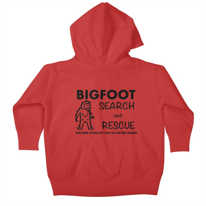 Bigfoot Search & Rescue (Black) Kids Baby Zip-Up Hoody by The Best Podcast You've Never Heard