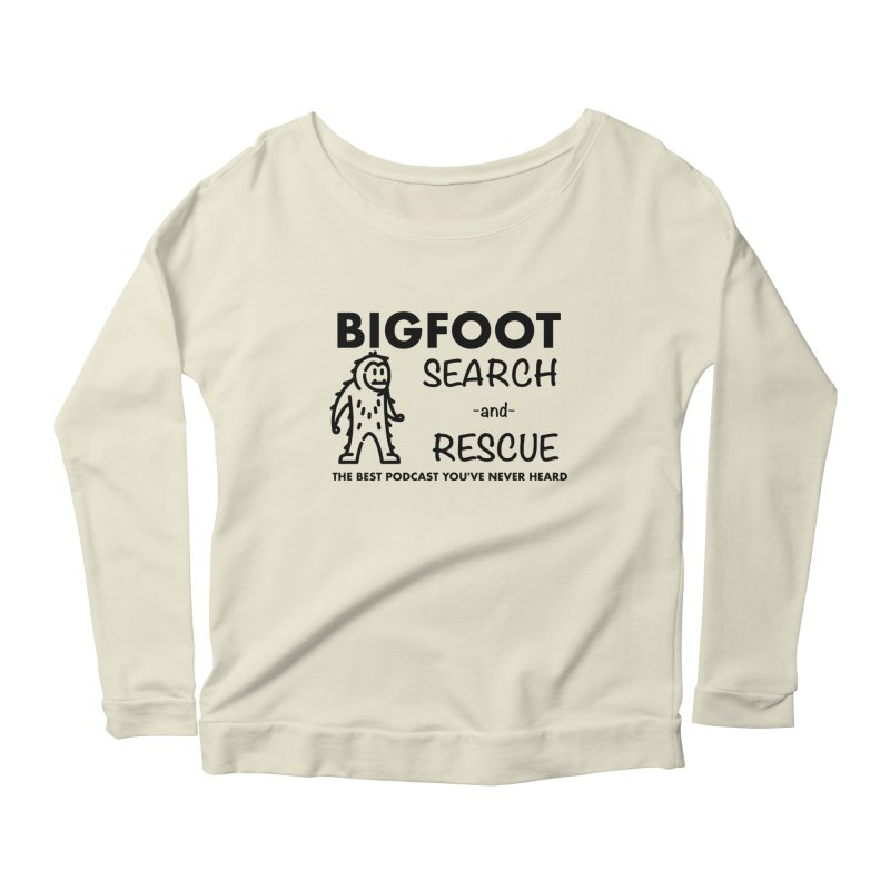 Bigfoot Search & Rescue (Black) Women's Scoop Neck Longsleeve T-Shirt by The Best Podcast You've Never Heard
