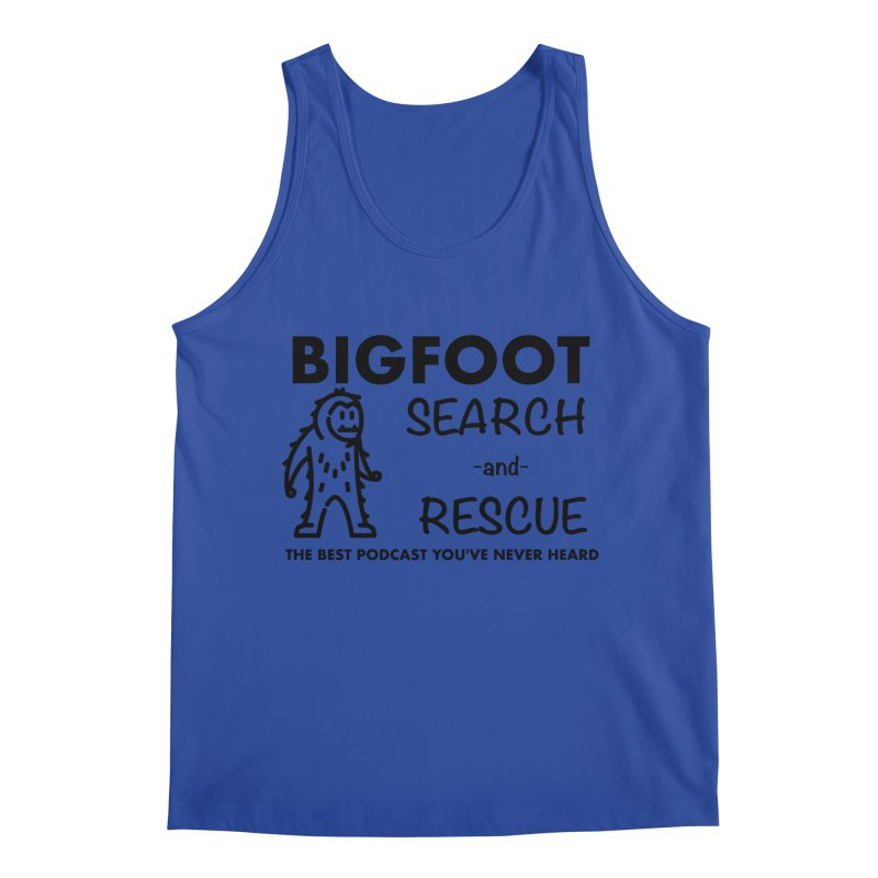 Bigfoot Search & Rescue (Black) Men's Regular Tank by The Best Podcast You've Never Heard