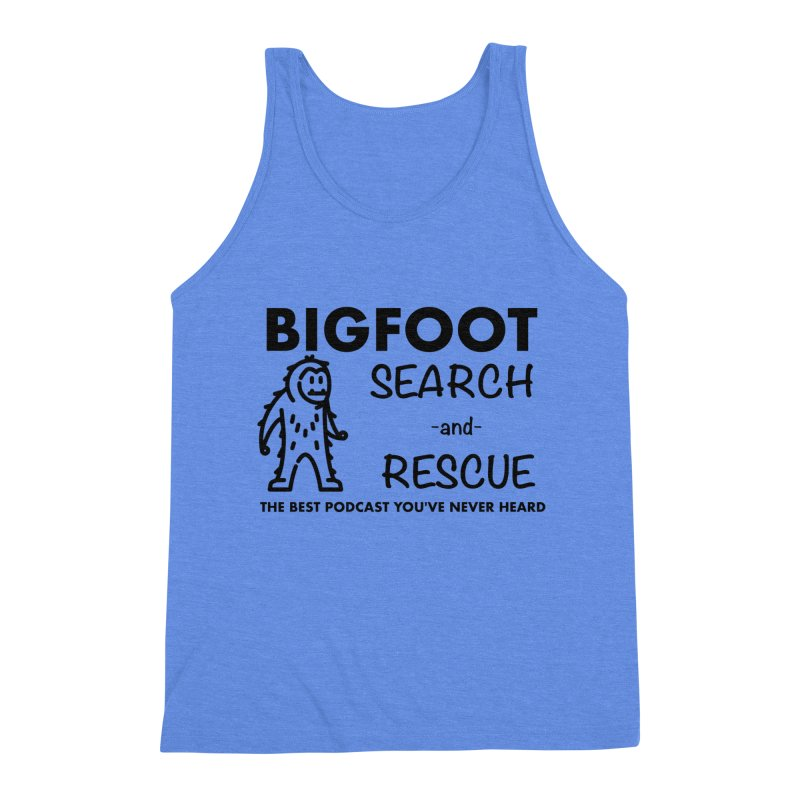 Bigfoot Search & Rescue (Black) Men's Triblend Tank by The Best Podcast You've Never Heard