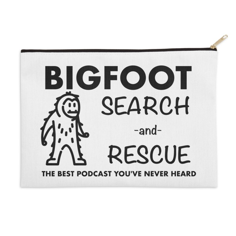 Bigfoot Search & Rescue (Black) Accessories Zip Pouch by The Best Podcast You've Never Heard