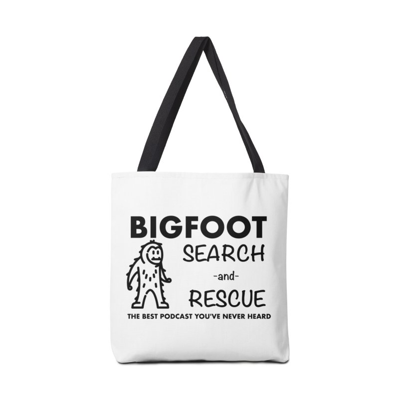 Bigfoot Search & Rescue (Black) Accessories Bag by The Best Podcast You've Never Heard