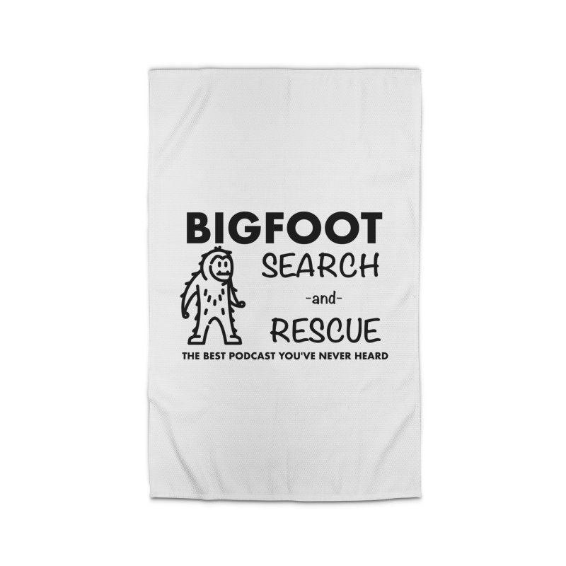 Bigfoot Search & Rescue (Black) Home Rug by The Best Podcast You've Never Heard