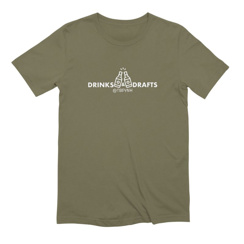 Drinks & Drafts (White) Men's Extra Soft T-Shirt by The Best Podcast You've Never Heard
