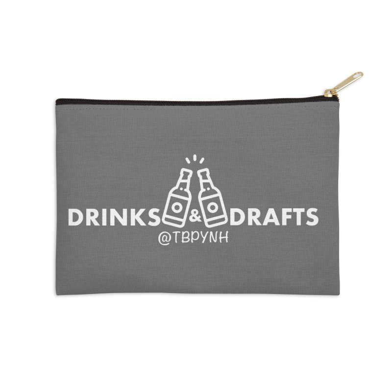 Drinks & Drafts (White) Accessories Zip Pouch by The Best Podcast You've Never Heard