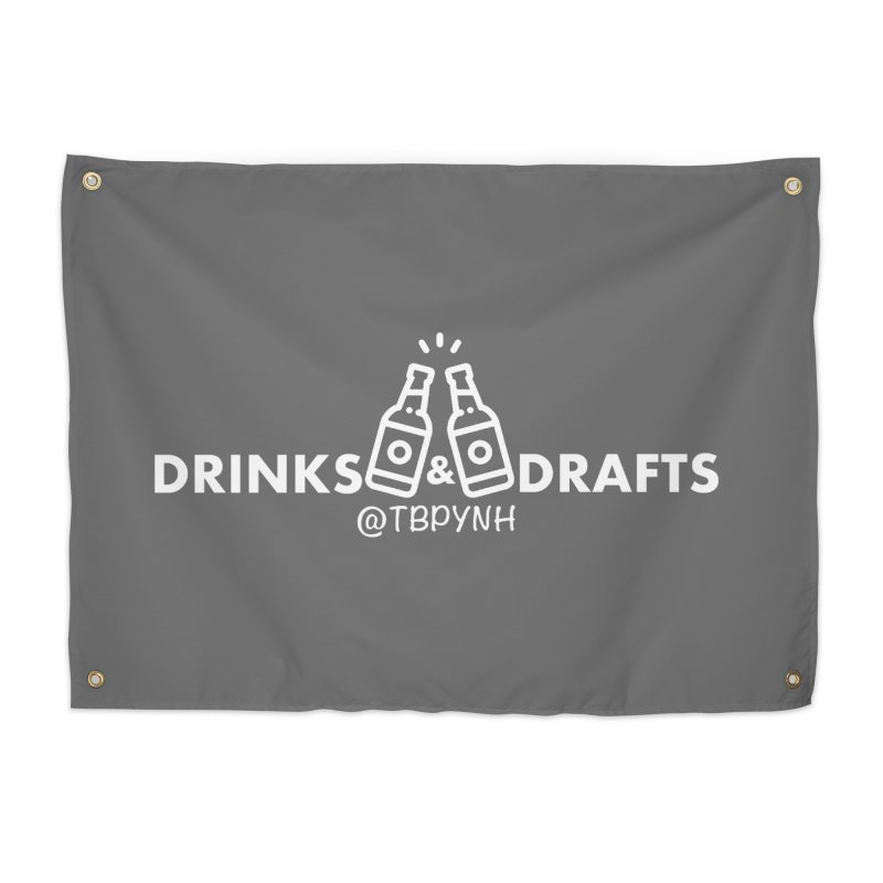 Drinks & Drafts (White) Home Tapestry by The Best Podcast You've Never Heard