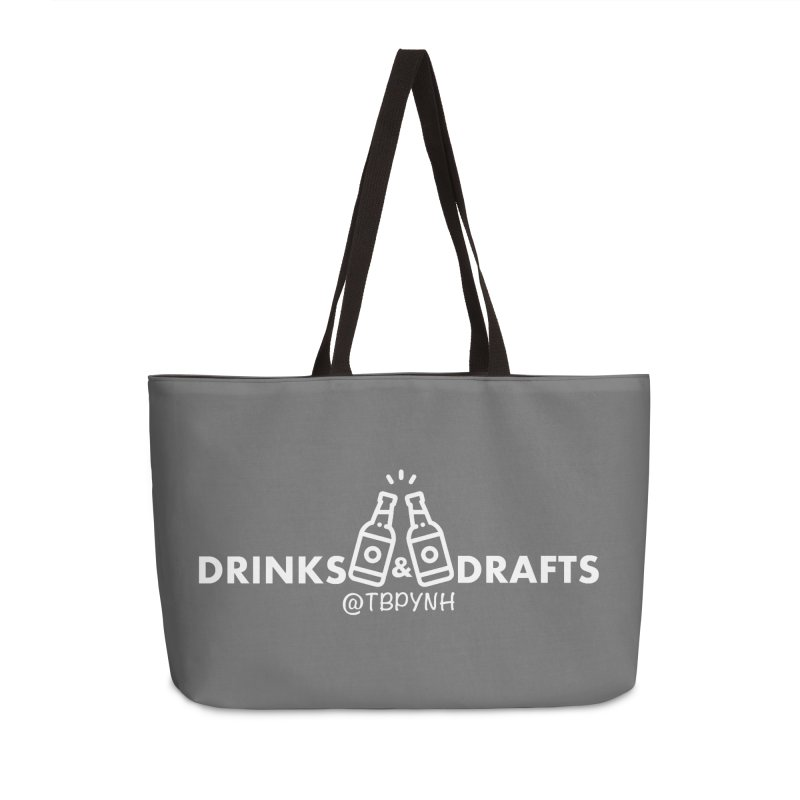 Drinks & Drafts (White) Accessories Weekender Bag Bag by The Best Podcast You've Never Heard
