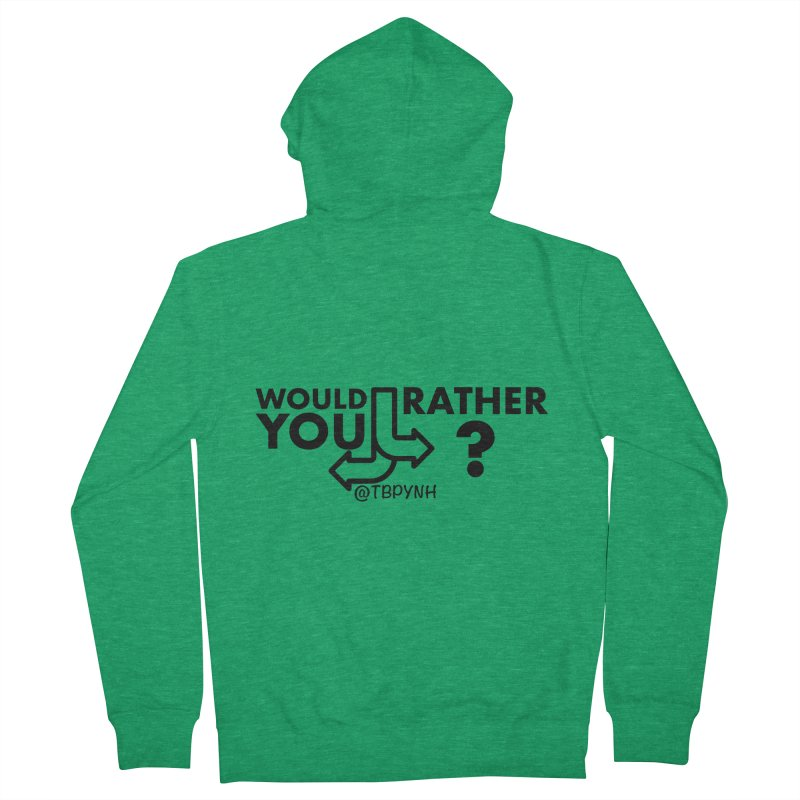 Would You Rather? (Black) Men's Zip-Up Hoody by The Best Podcast You've Never Heard