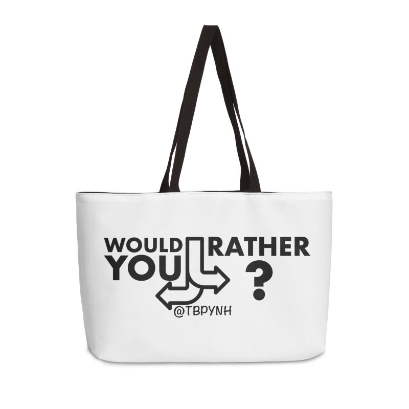 Would You Rather? (Black) Accessories Bag by The Best Podcast You've Never Heard