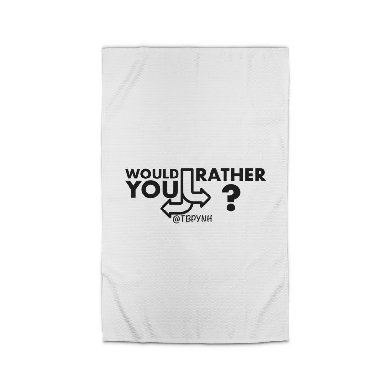 Would You Rather? (Black) Home Rug by The Best Podcast You've Never Heard