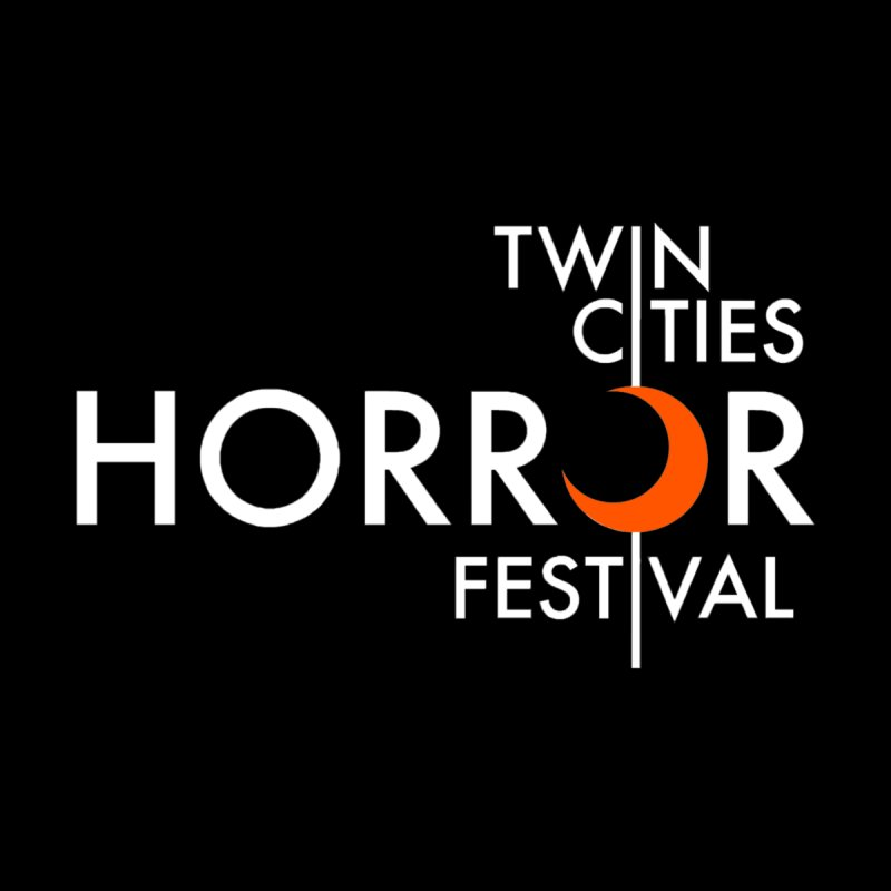 TC Horror Fest Logo Merchandise White Lettering Men's T-Shirt by Twin Cities Horror Festival Merchandise
