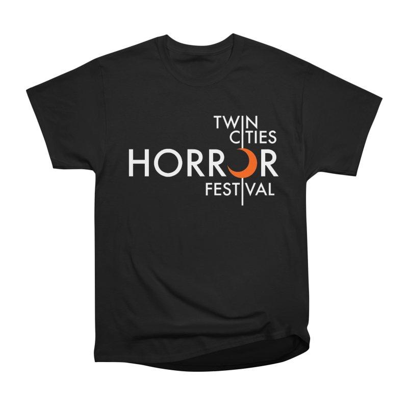 TC Horror Fest Logo Merchandise White Lettering Men's T-Shirt by Twin Cities Horror Festival Merchandise