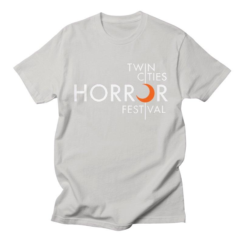 TC Horror Fest Logo Merchandise White Lettering Women's T-Shirt by Twin Cities Horror Festival Merchandise
