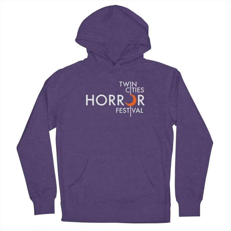 TC Horror Fest Logo Merchandise White Lettering Men's Pullover Hoody by Twin Cities Horror Festival Merchandise