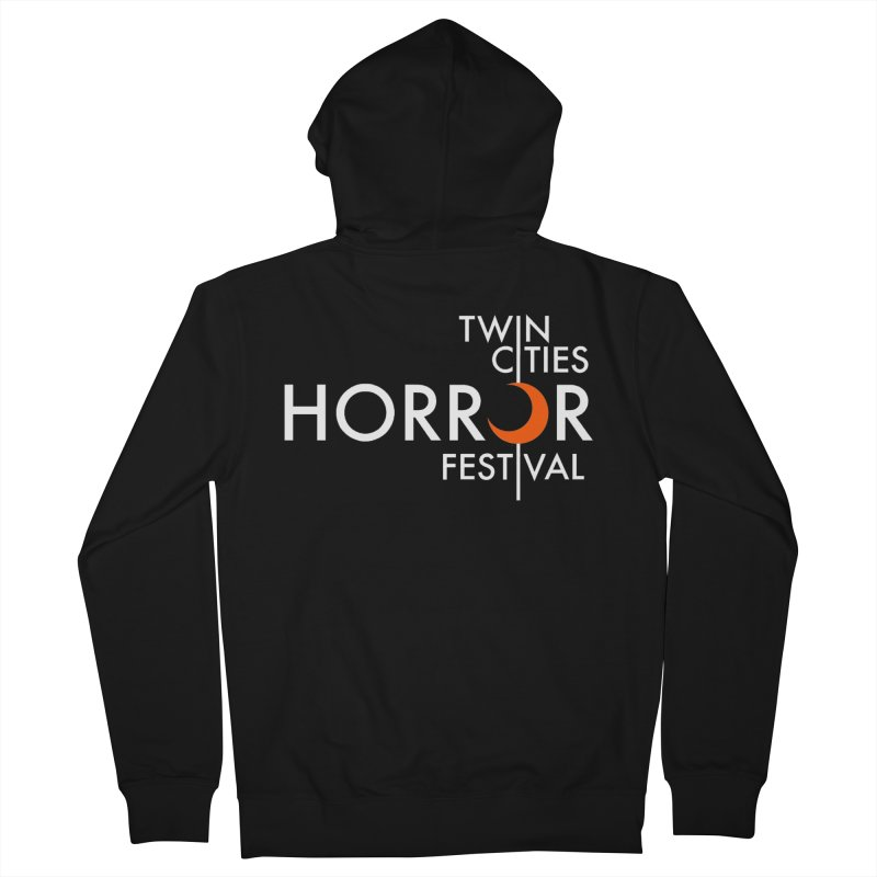 TC Horror Fest Logo Merchandise White Lettering Women's Zip-Up Hoody by Twin Cities Horror Festival Merchandise