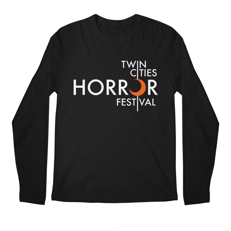 TC Horror Fest Logo Merchandise White Lettering Men's Longsleeve T-Shirt by Twin Cities Horror Festival Merchandise