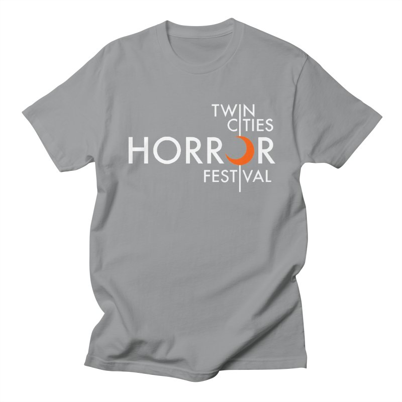 TC Horror Fest Logo Merchandise White Lettering Women's T-Shirt by Twin Cities Horror Festival Merchandise